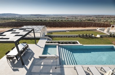 Visnjan surroundings - Luxury villa with panoramic views of the sea, olive groves and vineyards