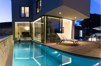Porec 3 km - Luxury designer villa with stunning sea view