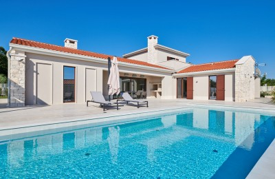 Visnjan surroundings - Luxury modern villa with panoramic views of the sea, olive groves and vineyards